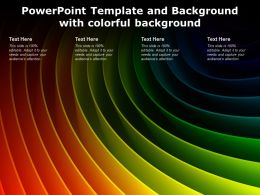 Powerpoint Template And Background With Colorful Background