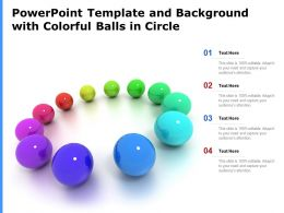 Powerpoint Template And Background With Colorful Balls In Circle