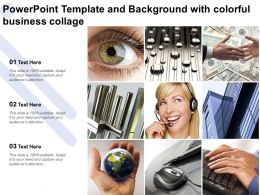 Powerpoint Template And Background With Colorful Business Collage