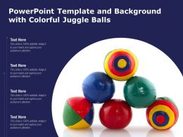 Powerpoint Template And Background With Colorful Juggle Balls