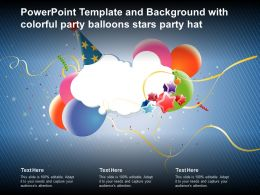 Powerpoint Template And Background With Colorful Party Balloons Stars Party Hat