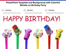 Powerpoint Template And Background With Colorfull Whistle On Birthday Party