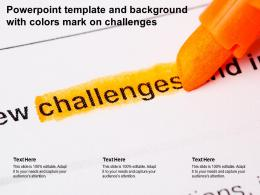 Powerpoint Template And Background With Colors Mark On Challenges