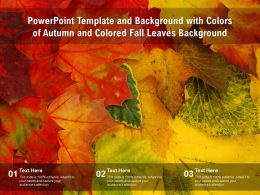 Powerpoint Template And Background With Colors Of Autumn And Colored Fall Leaves Background