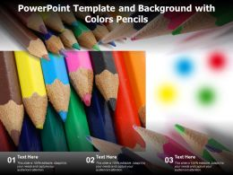 Powerpoint Template And Background With Colors Pencils