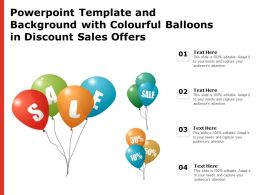 Powerpoint Template And Background With Colourful Balloons In Discount Sales Offers