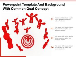 Powerpoint Template And Background With Common Goal Concept
