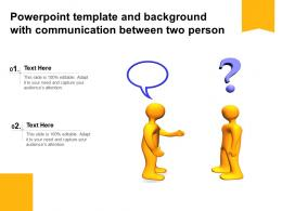 Powerpoint Template And Background With Communication Between Two Person