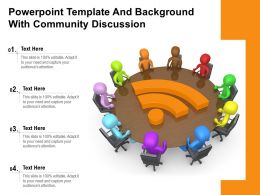 Powerpoint Template And Background With Community Discussion