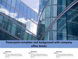 Powerpoint Template And Background With Company Office Blocks