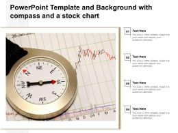 Powerpoint Template And Background With Compass And A Stock Chart