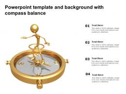 Powerpoint Template And Background With Compass Balance