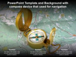 Powerpoint Template And Background With Compass Device That Used For Navigation