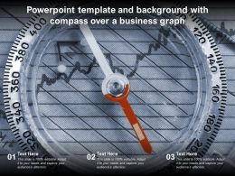 Powerpoint Template And Background With Compass Over A Business Graph