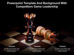 Powerpoint Template And Background With Competitors Game Leadership