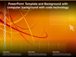Powerpoint Template And Background With Computer Background With Code Technology