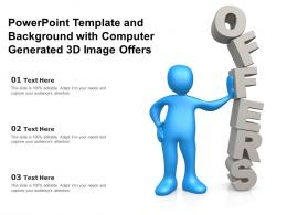 Powerpoint Template And Background With Computer Generated 3d Image Offers