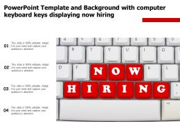 Powerpoint Template And Background With Computer Keyboard Keys Displaying Now Hiring