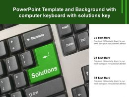 Powerpoint Template And Background With Computer Keyboard With Solutions Key