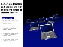 Powerpoint Template And Background With Computer Network On Internet Concept