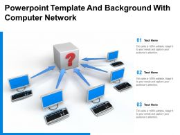 Powerpoint Template And Background With Computer Network