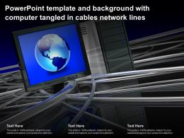 Powerpoint Template And Background With Computer Tangled In Cables Network Lines