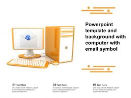 Powerpoint Template And Background With Computer With Email Symbol