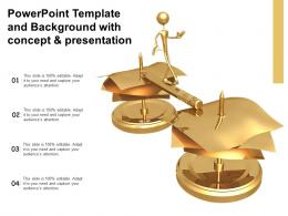 Powerpoint Template And Background With Concept And Presentation