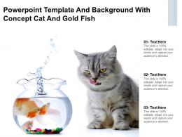 Powerpoint Template And Background With Concept Cat And Gold Fish