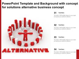 Powerpoint Template And Background With Concept For Solutions Alternative Business Concept