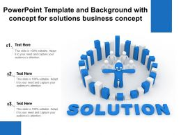 Powerpoint Template And Background With Concept For Solutions Business Concept