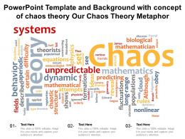 Powerpoint Template And Background With Concept Of Chaos Theory Our Chaos Theory Metaphor