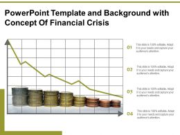 Powerpoint Template And Background With Concept Of Financial Crisis