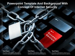 Powerpoint Template And Background With Concept Of Internet Security