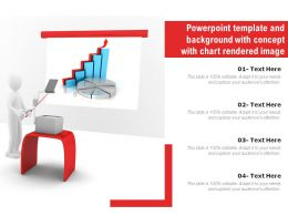 Powerpoint Template And Background With Concept With Chart Rendered Image