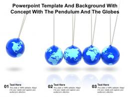 Powerpoint Template And Background With Concept With The Pendulum And The Globes
