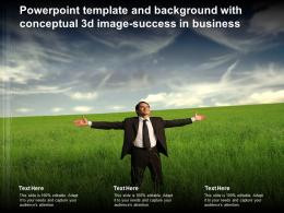 Powerpoint Template And Background With Conceptual 3d Image Success In Business