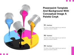 Powerpoint Template And Background With Conceptual Image A Palette Cmyk