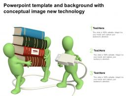 Powerpoint Template And Background With Conceptual Image New Technology