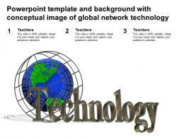 Powerpoint Template And Background With Conceptual Image Of Global Network Technology
