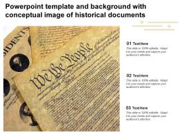 Powerpoint Template And Background With Conceptual Image Of Historical Documents