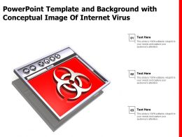 Powerpoint Template And Background With Conceptual Image Of Internet Virus
