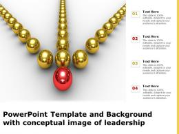 Powerpoint Template And Background With Conceptual Image Of Leadership
