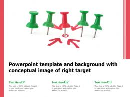 Powerpoint Template And Background With Conceptual Image Of Right Target