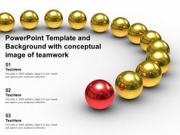 Powerpoint Template And Background With Conceptual Image Of Teamwork