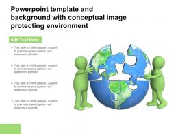 Powerpoint Template And Background With Conceptual Image Protecting Environment