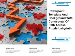 Powerpoint Template And Background With Conceptual Of Path Across Puzzle Labyrinth