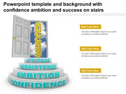 Powerpoint Template And Background With Confidence Ambition And Success On Stairs