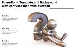 Powerpoint Template And Background With Confused Man With Question