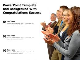 Powerpoint Template And Background With Congratulations Success